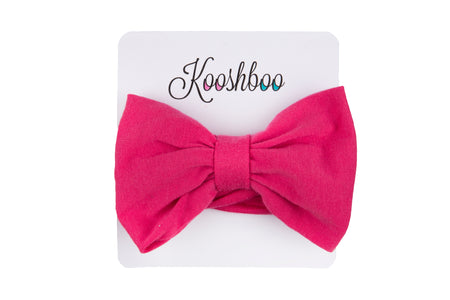 BOW HEADBAND (in Hot Pink)