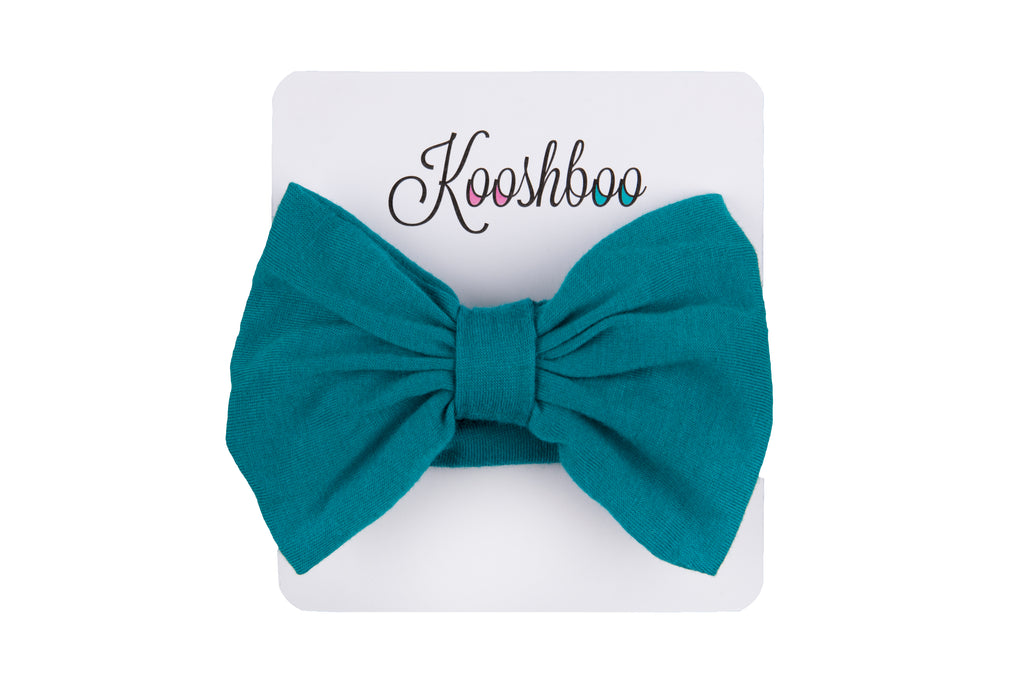 BOW HEADBAND - TEAL