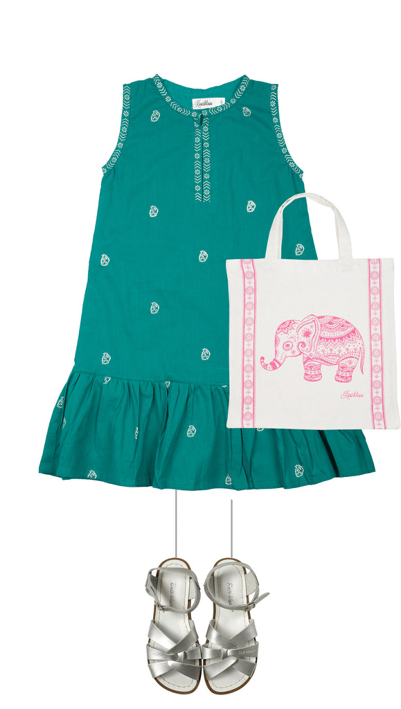 HOLIDAY'17 GIRL LOOK 5 - Rika Dress Teal