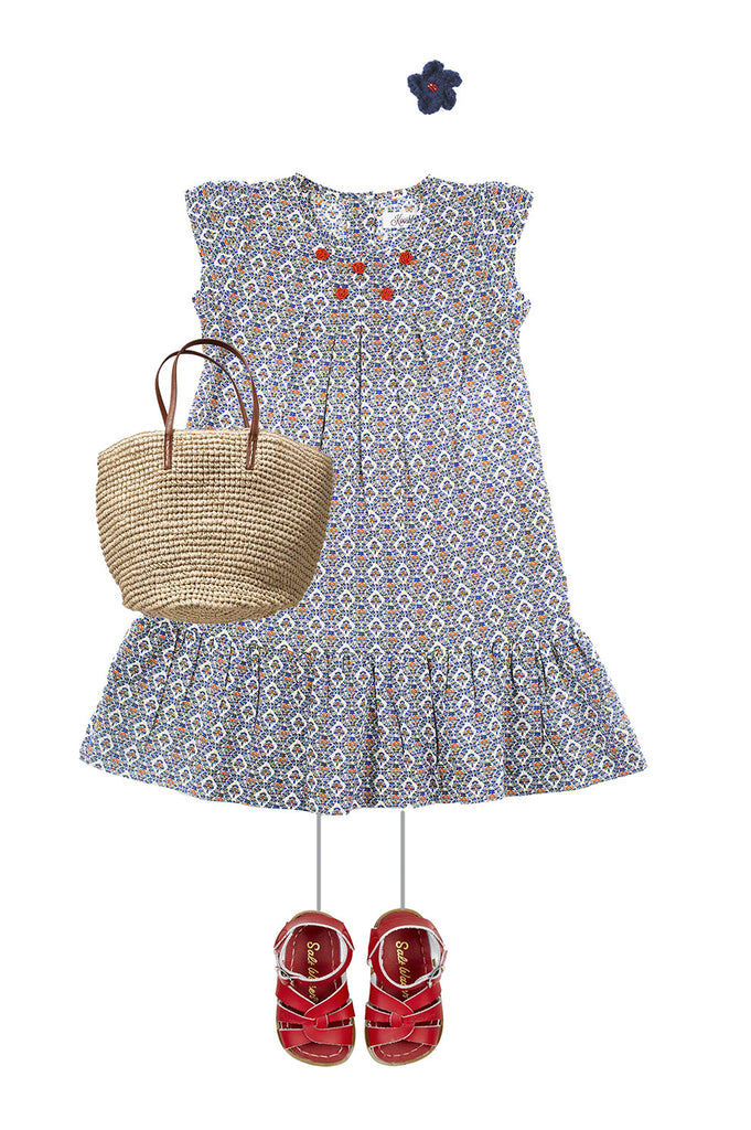 TRELIS GIRL LOOK 1 - Rosie Dress Blue
