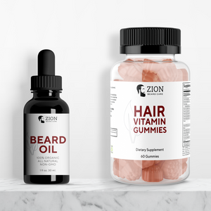 Zion Booster Pack - Beard Oil & Hair Vitamin Gummies