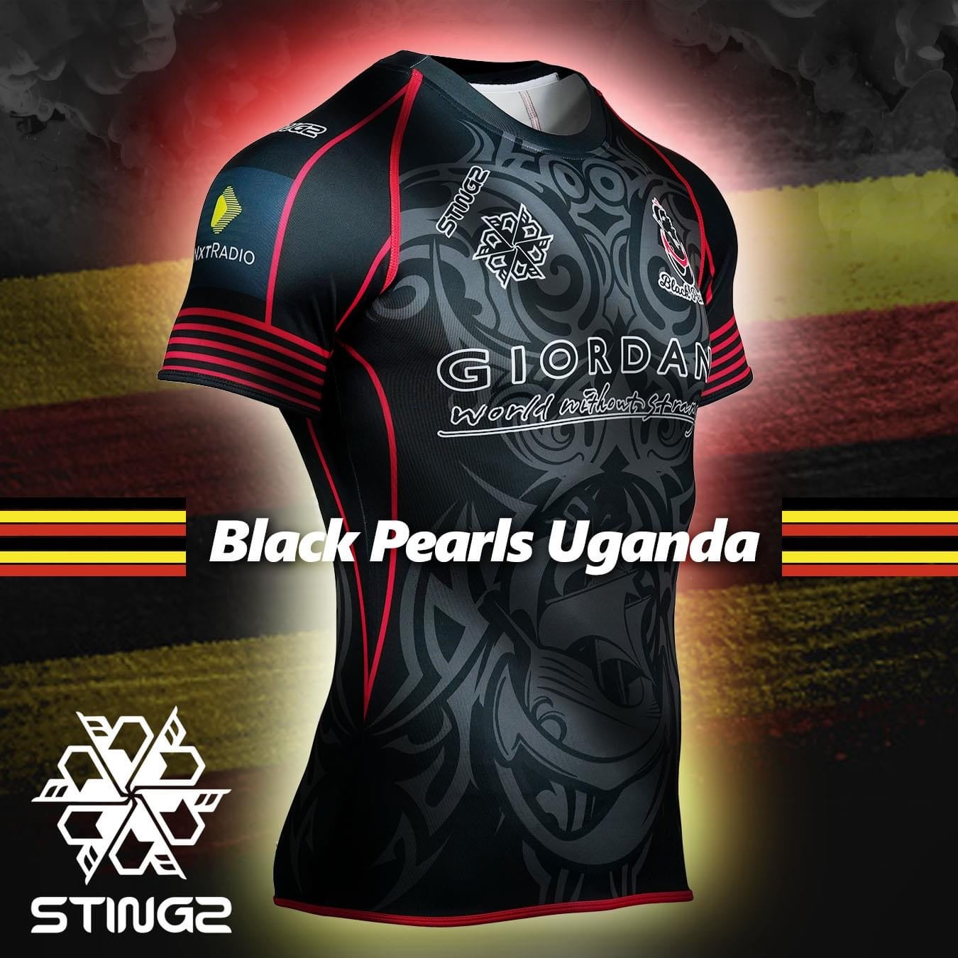 Official Uganda Black Pearls Rugby Jersey