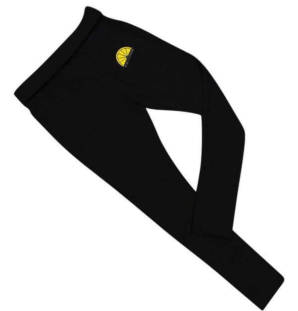 Donna Black Pants  Co. Lycra - Black - Acqua Limone