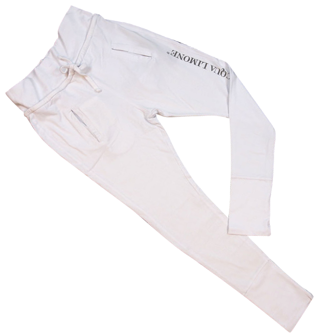 Donna Long Pants  Co. Lycra - White - Acqua Limone