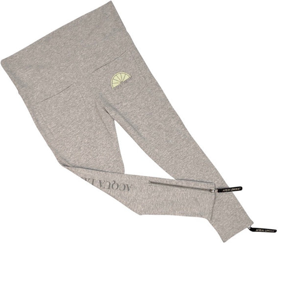 Donna 3/4 Tights Co. Lycra, American Grey, O/S - Acqua Limone