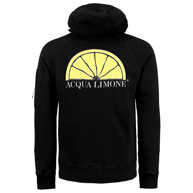 Hood Sweat - Black - Acqua Limone