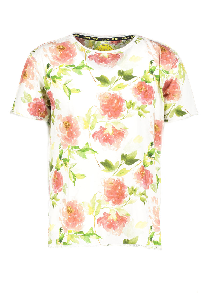 Flower Tee - White - Acqua Limone