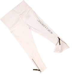 Donna 3/4 Tights Co. Lycra, White, O/S - Acqua Limone