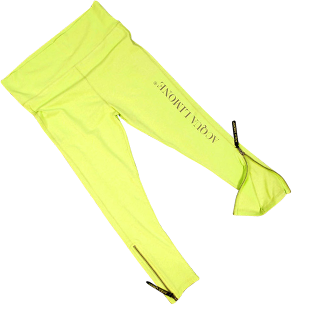 Donna 3/4 Tights Co. Lycra, Lime, O/S - Acqua Limone