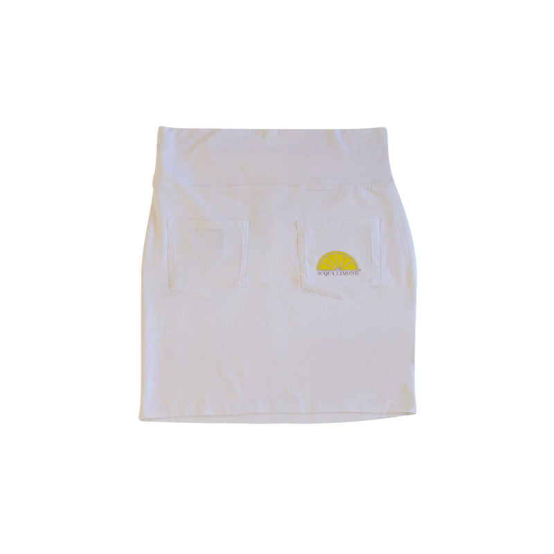 Donna Skirt Co. Lycra, White, O/S - Acqua Limone