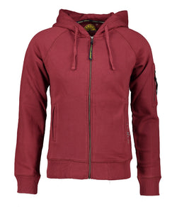 Hood Jacket Print - Bordeaux - Acqua Limone