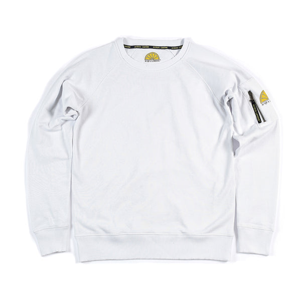 College Sleeve Pocket - White - Acqua Limone