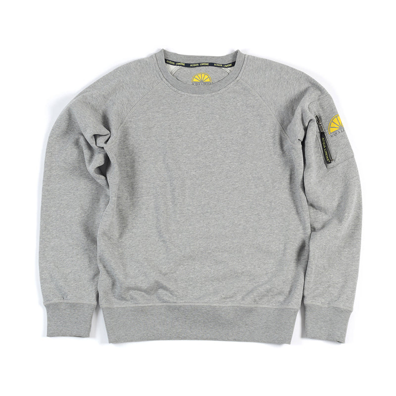 College Sleeve Pocket - American Grey - Acqua Limone