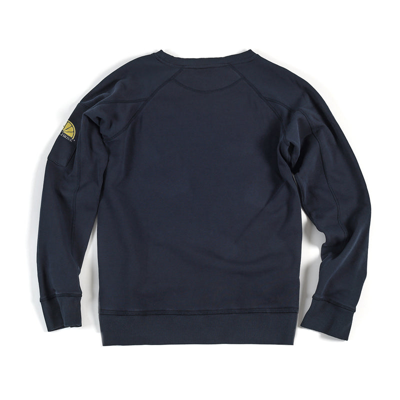 College Sleeve Pocket - Navy - Acqua Limone