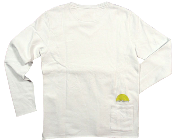 College V-Neck - White - Acqua Limone