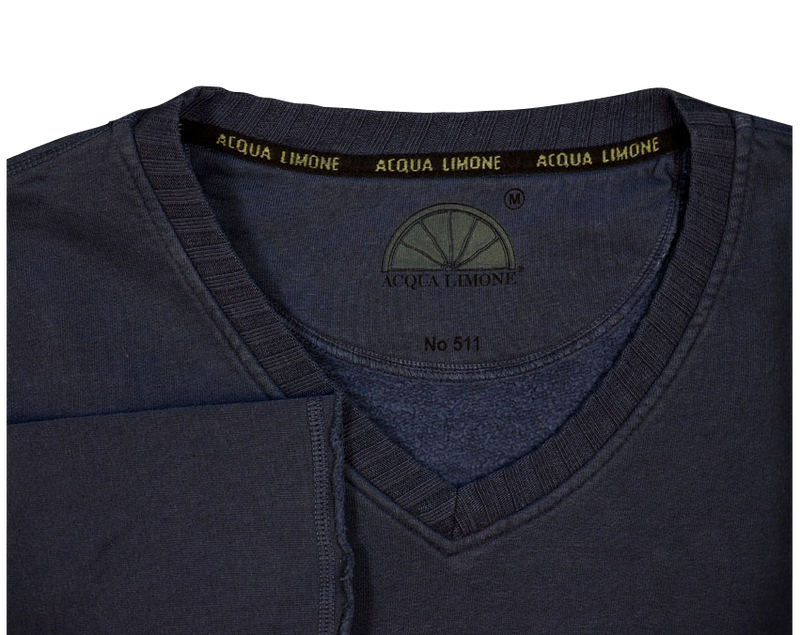 College V-Neck - Navy - Acqua Limone