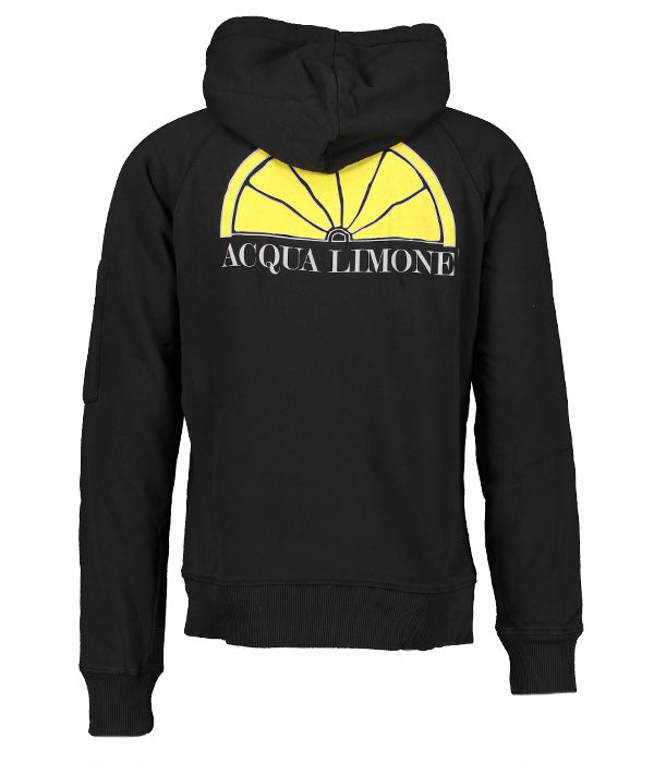 Hood Jacket Print - Black - Acqua Limone
