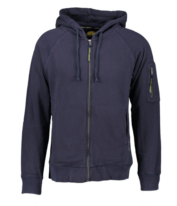 Hood Jacket Print - Dark Navy - Acqua Limone