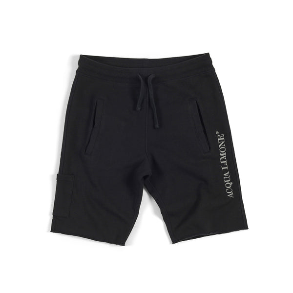 Sweat Shorts Print - Black - Acqua Limone