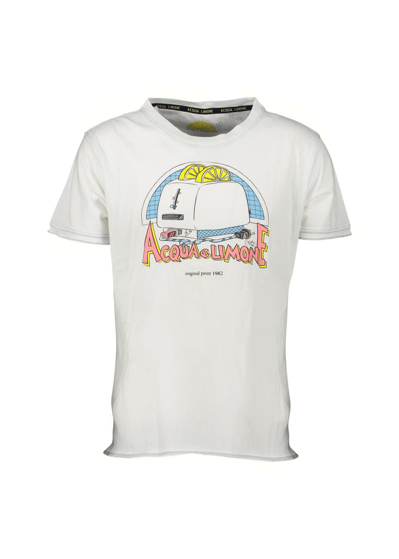 Fancy Tee - Toaster White - Acqua Limone