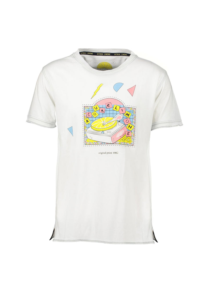 Fancy Tee - Record Player White - Acqua Limone