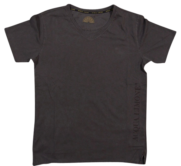 T-Shirt V-Neck - Black - Acqua Limone