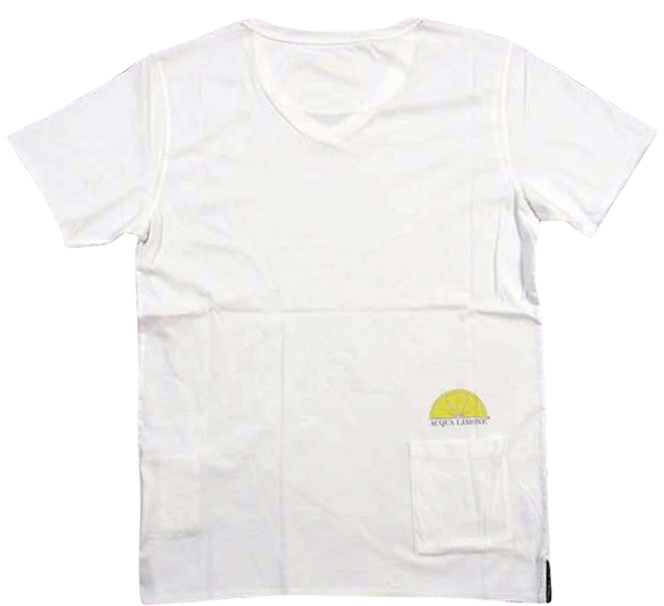 T-Shirt V-Neck - White - Acqua Limone