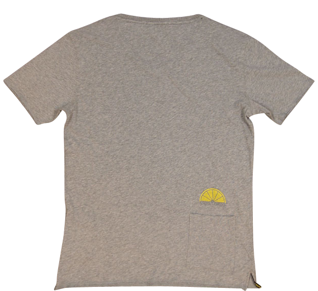 T-Shirt V-Neck - American Grey - Acqua Limone