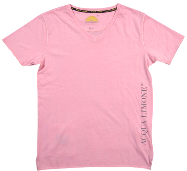 T-Shirt V-Neck - Pink - Acqua Limone