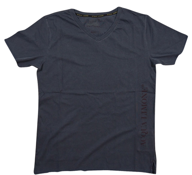 T-Shirt V-Neck - Navy - Acqua Limone