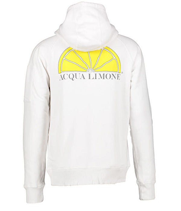 Hood Sweat - White - Acqua Limone