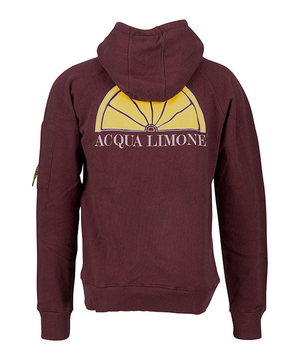 Hood Sweat - Bourdeaux - Acqua Limone