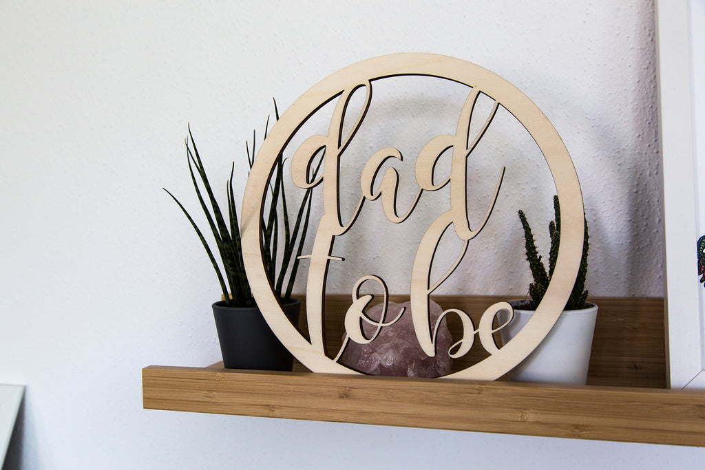 Lasercut Stuhlbehang 'mom & dad to be'