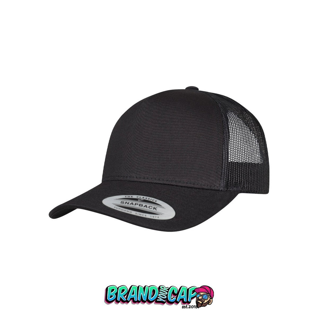 5-panel retro trucker cap - black - BrandyourCap.de