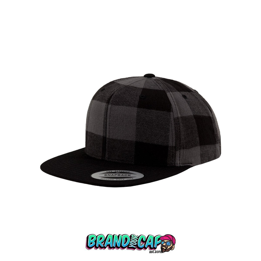 Checked Flannel Snapback - gray - BrandyourCap.de