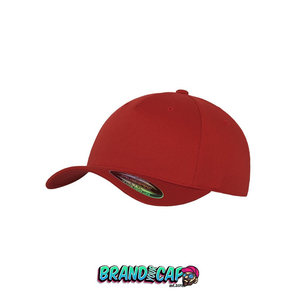 Flexfit 5 panel - red - BrandyourCap.de