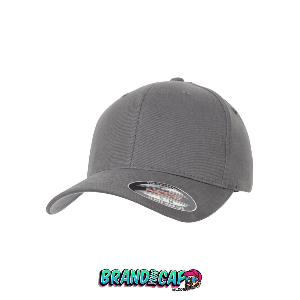 Flexfit Brushed Twill - gray - BrandyourCap.de