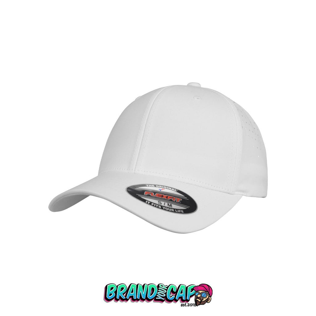 Flexfit Perforated Cap - white - BrandyourCap.de