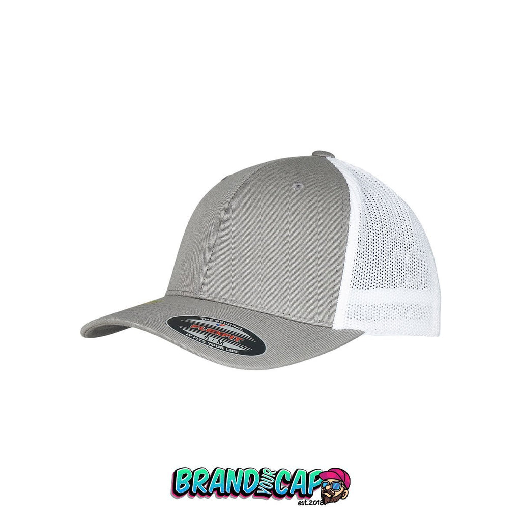 Flexfit Trucker Recycled Mesh® - gray / white - BrandyourCap.de