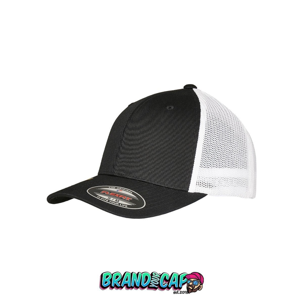 Flexfit Trucker Recycled Mesh® - black / white - BrandyourCap.de