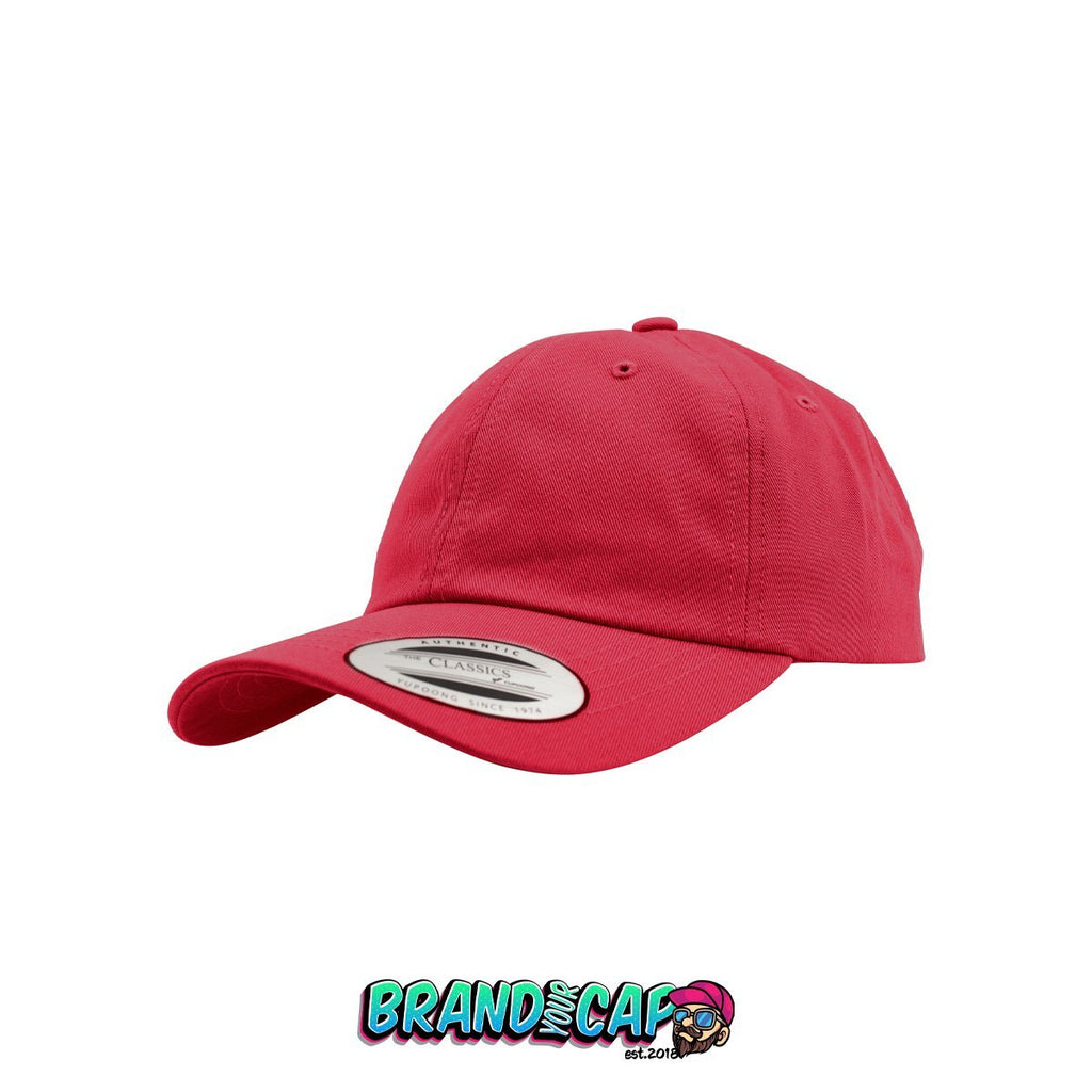 Low Profile Cotton Twill - cranberry - BrandyourCap.de