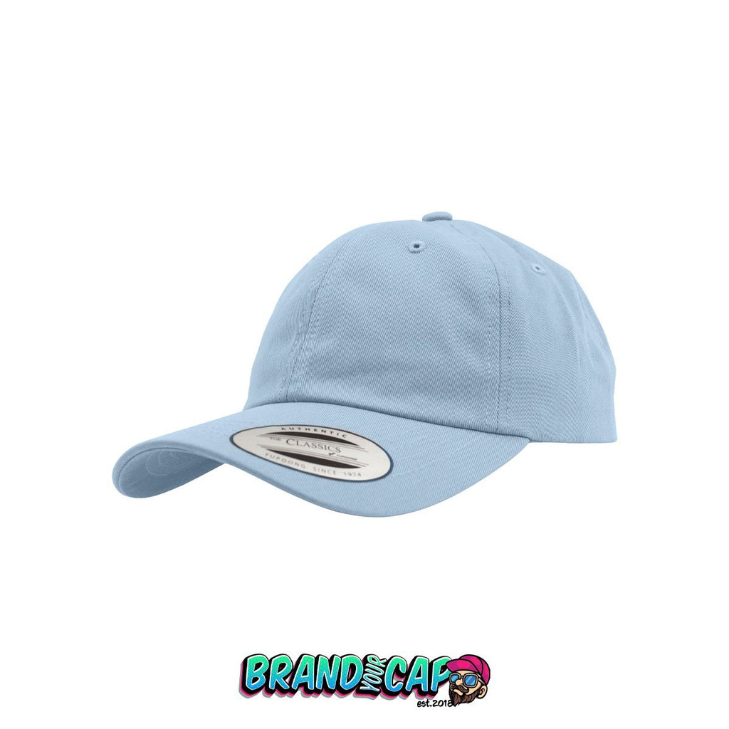 Low Profile Cotton Twill - light blue - BrandyourCap.de