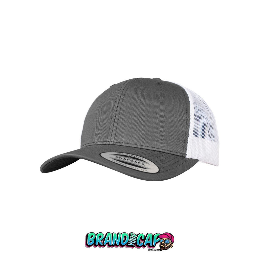 Retro Trucker 2-Tone - dark gray / white - BrandyourCap.de