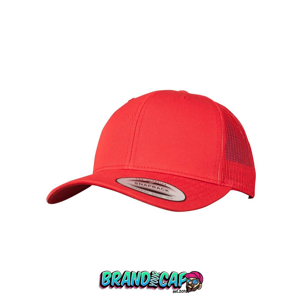 Retro Trucker - red - BrandyourCap.de