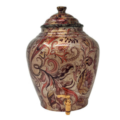 Designer Copper Water Pot with tap
