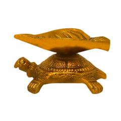 Brass tortoise oil lamp