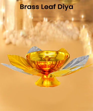Buy Online Brass Leaf Shape Diya. Pure Brass Diya for pooja and home decor. Buy best price online brass akhand diya at reasonable price.