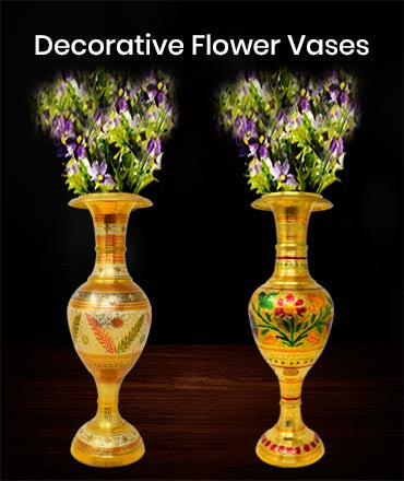Buy Online Brass Flower Vase at Ashtok. Decorate with flowers in the brass vase. Decorative item for Home Decor. Best Price Online Brass Flower Vase. Buy at affordable price. Elegant look eye catching flower vases.