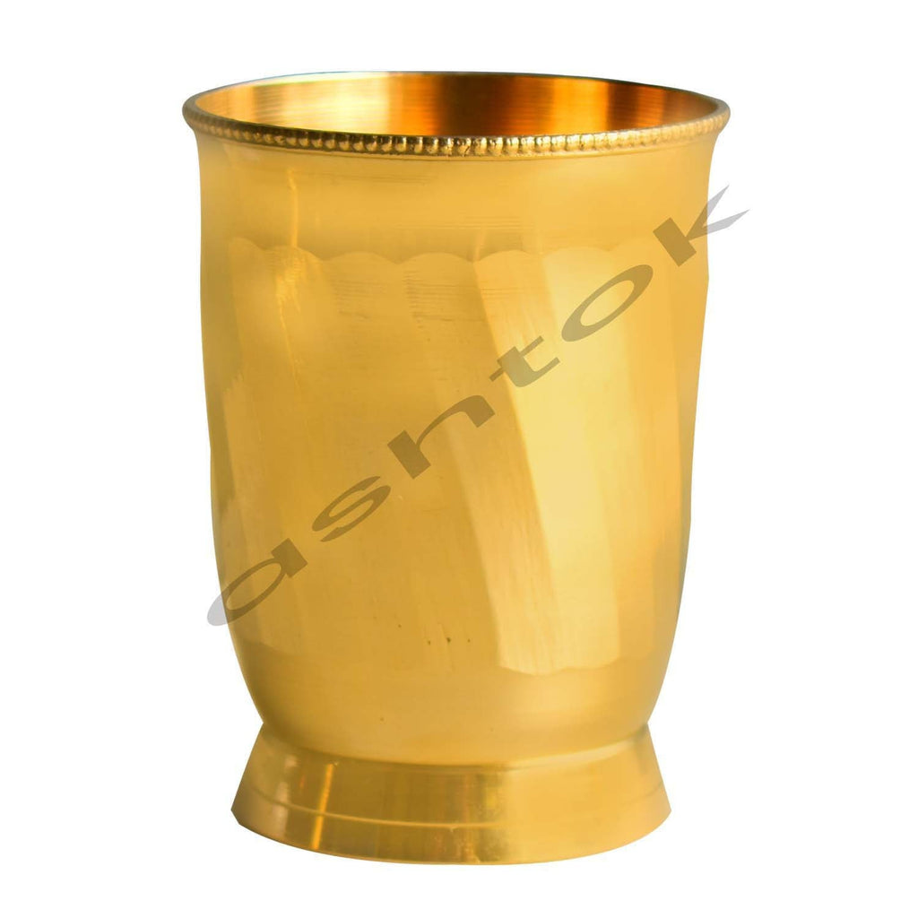 brass water glass