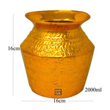 Brass Oval Shape Pot